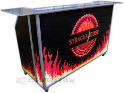 62 Portable Bar with Fire Hot Sauce Branding