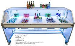 77 Portable Bar w/ 5 Ice Bins