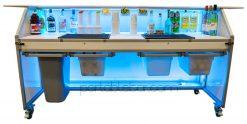 77 Portable Bar Shown w/ 4 Slide Out Shelves