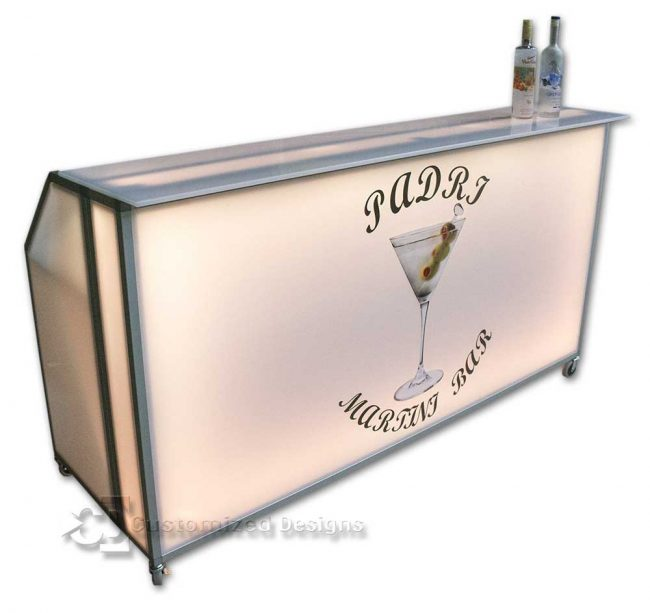 "Square Bar Top for 77"" Portable Bar"