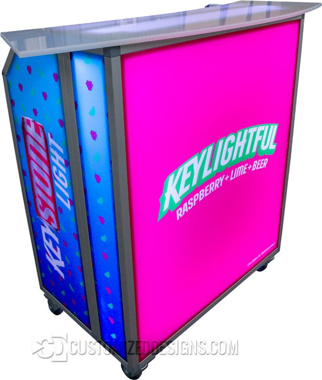 Mini Portable Bar with Keystone Light Branding