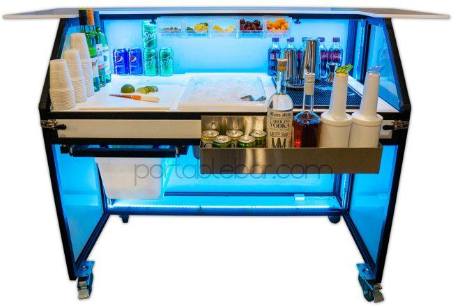 Portable Bar with LED Lighting