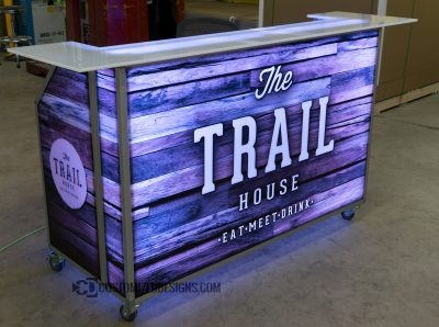 Wood Panel Portable Bar 2