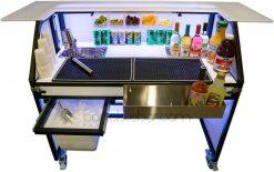 """48"""" Portable Bar w/ Under Counter Ice Bin"""