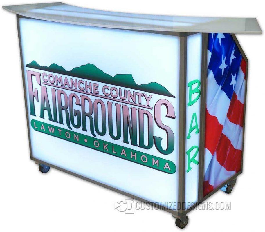 Patriotic American Flag Mobile Bar
