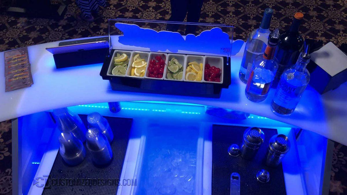 "48"" Portable Bar w/ Curve Bar Top"