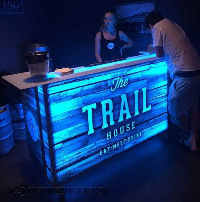 62 Portable Bar - Trail House - Wrap Bar Top