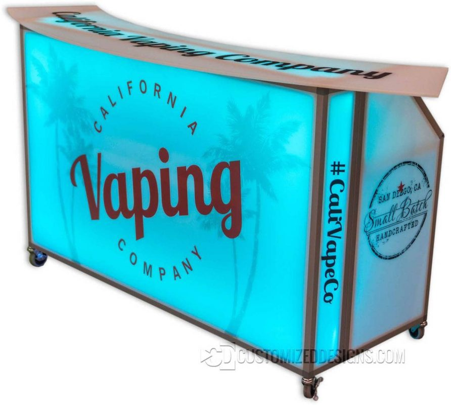 62 Portable Folding Bar w/ Vape Graphic