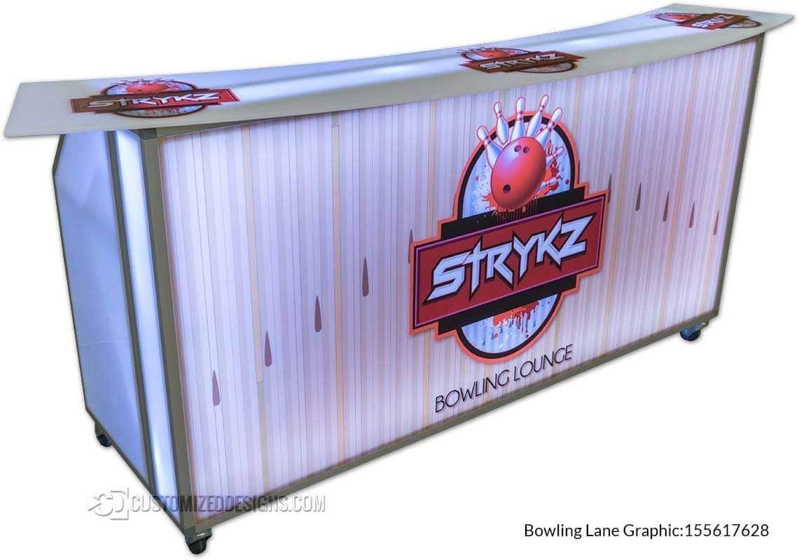 Portable Bar w/ Bowling Theme Logo