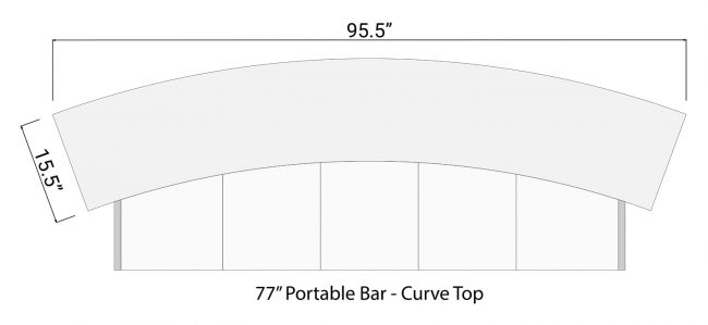 Curve Bar Top for 77 Portable Bar