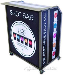 Mini Portable Bar w/ Square Bar Top