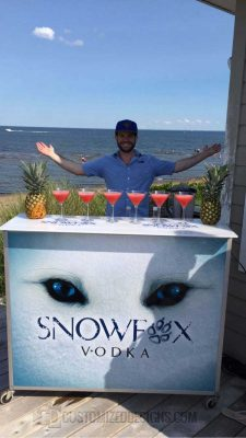 "48"" Portable Bar for Snowfox Vodka"