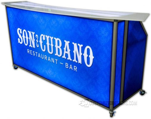 77 LED Lighted Mobile Bar