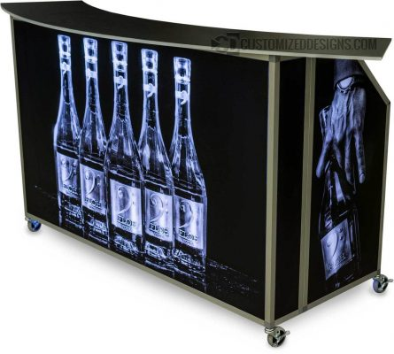 "62"" Portable Folding Bar Floh Vodka"
