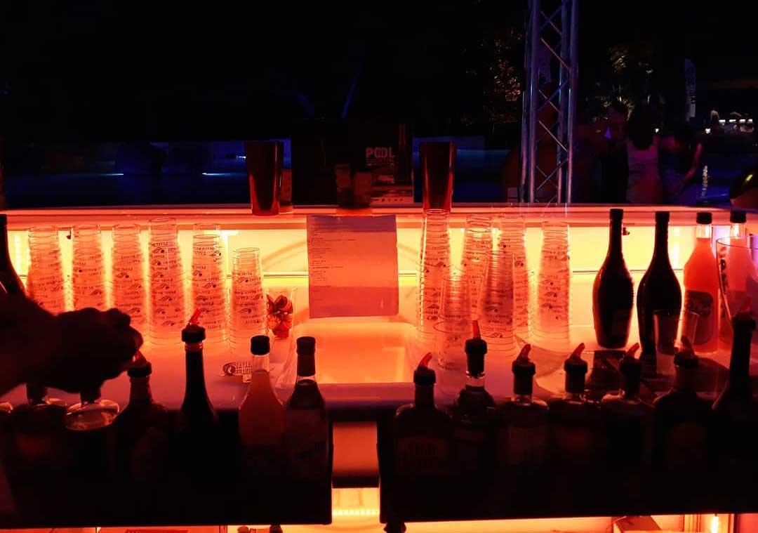 Mobile Bar with LED Lighting
