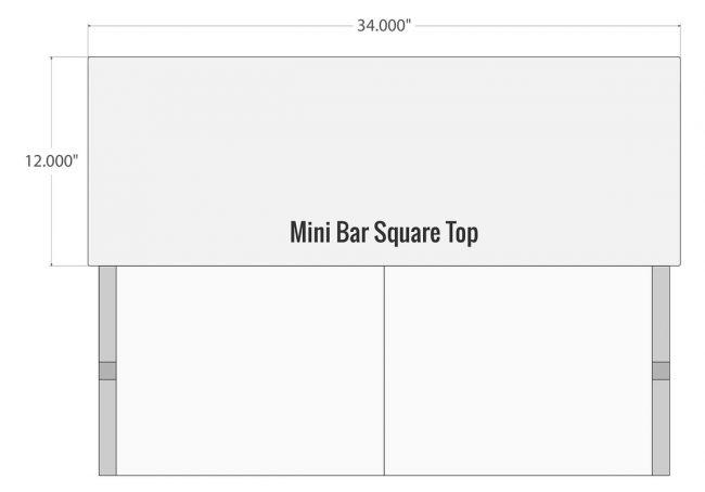 Square Bar Top for Portable Mini Bar