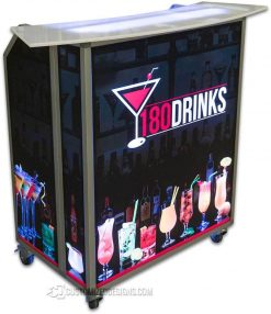 Mini Portable Bar w/ Curve Top