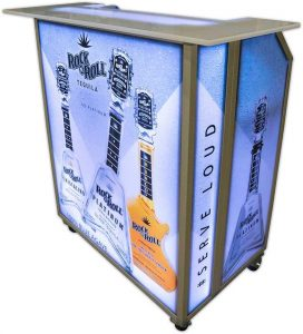 Mini Bar with Rock & Roll Graphic