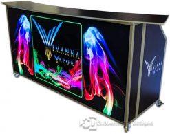 77 Portable Folding Bar With Custom Graphics