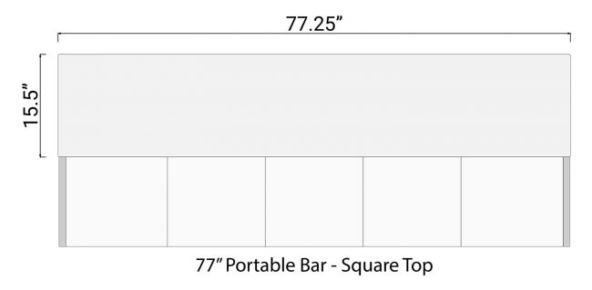 Square Bar Top for 77 Mobile Bar