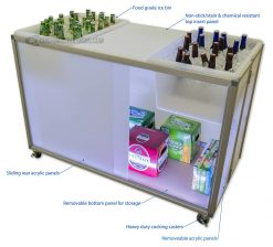 Portable Back Bar Table Features
